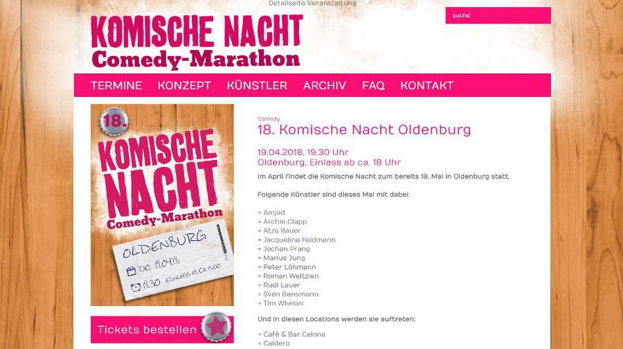 Zauberer buchen komische Nacht in Oldenburg